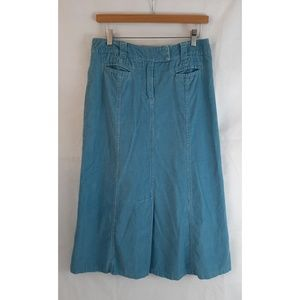 BODEN Corduroy A-Line Multi Paneled Maxi Skirt 10